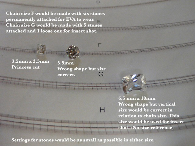 Diamond:Chain sizing picture