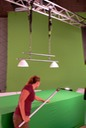 Broom placement on green screen countertop