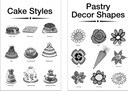 Pastry posters for bakery set